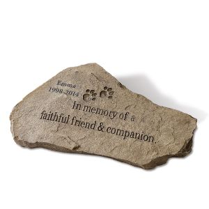 Personalized Faithful Campanion Garden Stone