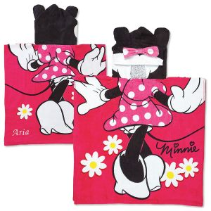 Personalized Minnie Poncho Towel