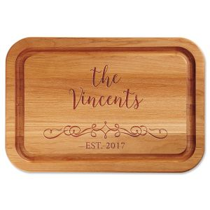 Vine-Design Personalized Wood Cutting Board
