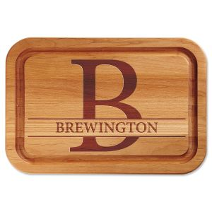 Large Initial Personalized Wood Cutting Board