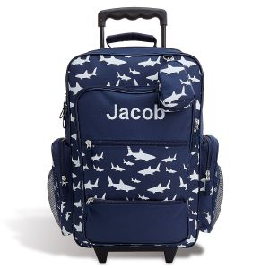 "Personalized Shark 21"" Rolling Luggage"