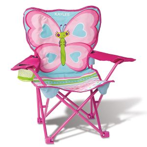 Personalized Butterfly Camp Chair by Melissa & Doug®