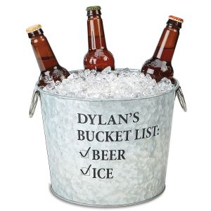 Personalized Bucket List Beer Bucket