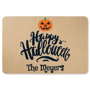 Happy Halloween Personalized Doormat