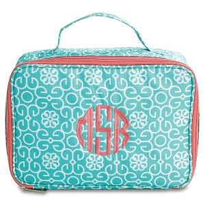 Personalized Lunch Bag Mint Damask - Monogram