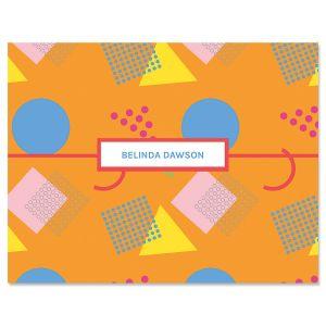 Retro Orange Note Cards
