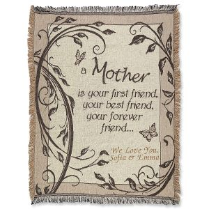 A Mother Is... Personalized Throw