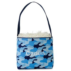 Personalized Cool Camo Easter Bucket