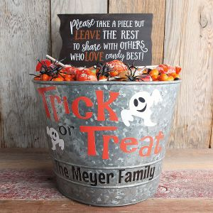 Personalized Halloween Candy Bucket