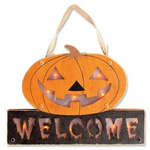 LED Halloween Pumpkin Sign