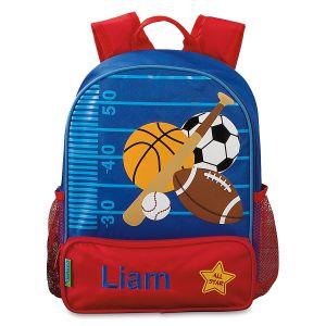 Personalized Sports Preschool Backpack by Stephen Joseph®