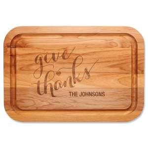 Personalized Give Thanks Cutting Board