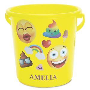 Personalized Emoji Beach Bucket