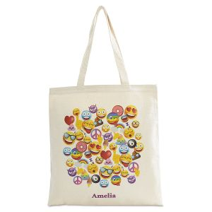 Personalized Emoji Canvas Tote
