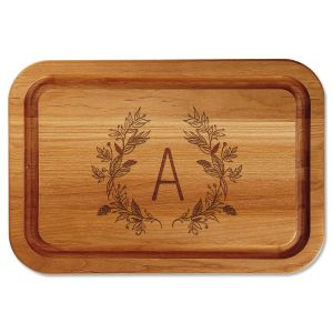 Personalized Floral Laural Cutting Board