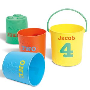 Personalized Sunny Patch Seaside Nesting Pails