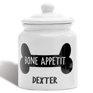 Personalized Bone Appetit Dog Treat Jar