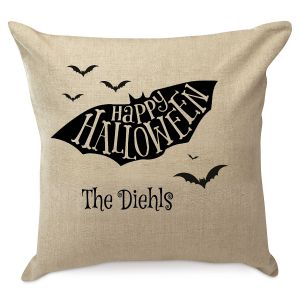 Personalized Halloween Bat Pillow