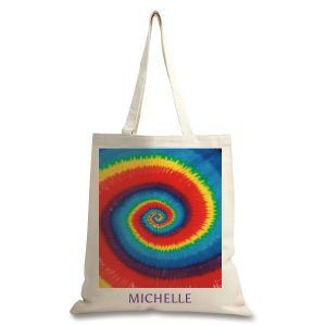 Personalized Tie Dye Canvas Tote