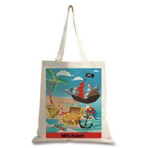 Personalized Pirate Canvas Tote