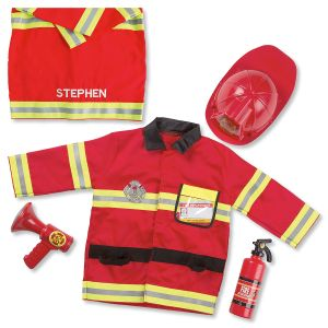 Personalized Fire Chief Dress-Up Outfit