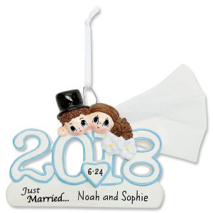 2018 Wedding Christmas Personalized Ornament