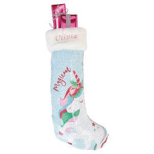 Personalized Unicorn Sequin Magic Stocking