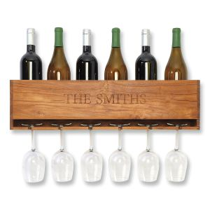 Personalized Wine & Stem Organizer