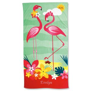 Flamingo Personalized Towel