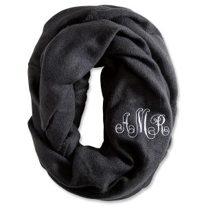 Personalized Black Infinity Scarf