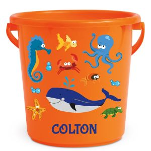 Personalized Kids Beach Bucket - Under the Sea