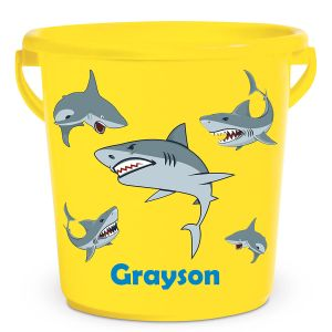 Personalized Kids Beach Bucket - Sharks