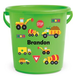 Personalized Kids Beach Bucket - Trucks