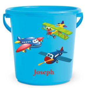 Personalized Kids Beach Bucket - Airplane