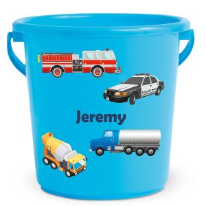Personalized Kids Beach Bucket - Cars