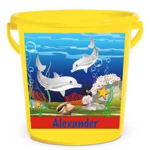 Personalized Kids Beach Bucket - Dolphin