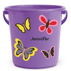 Personalized Kids Beach Bucket - Butterfly