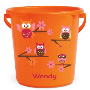 Personalized Kids Beach Bucket - Owl