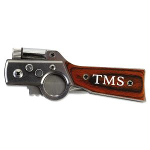 Personalized Gun-Shaped Pocket Knife