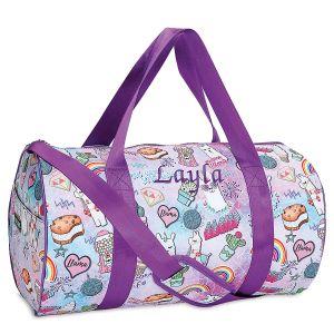 Personalized Llama Drama Duffel Bag