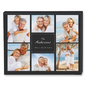 Home Heart Collage Photo Canvas