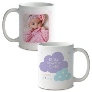 Baby Girl Personalized Photo Mug