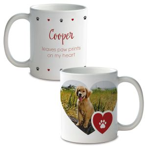 Paw Print Ceramic Photo Mug