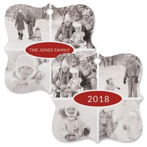 Year Photo Ornament - Square Bracket 4