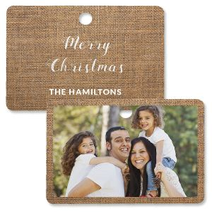 Burlap Photo Ornament – Rectangle