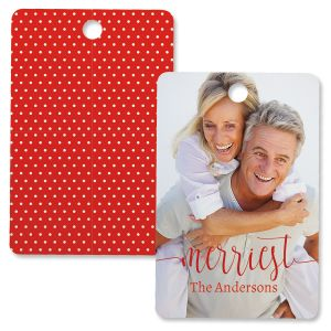 Merriest Photo Ornament – Rectangle