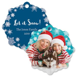 Let It Snow Photo Ornament – Snowflake