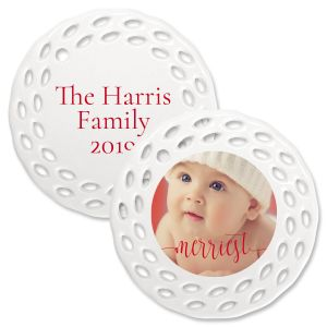 Merriest Photo Ornament - Doily
