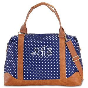 Personalized Charlie Dot Weekender Tote