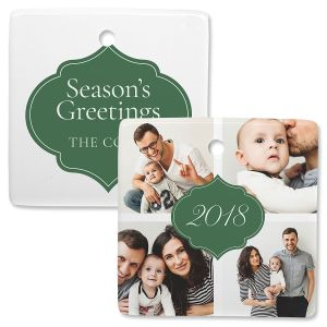 Year Photo Ornament – Square 4
